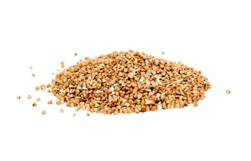 Buckwheat isolated on white background stock photography