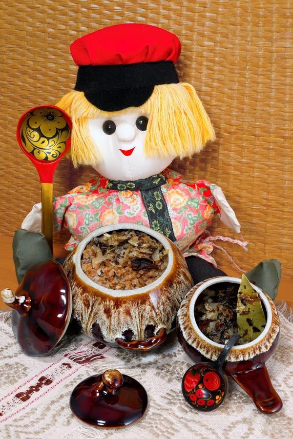 Free Buckwheat Porridge In The Pot Royalty Free Stock Image - 19072466