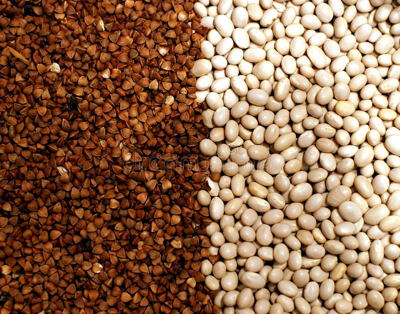 Buckwheat and white beans vegetarian