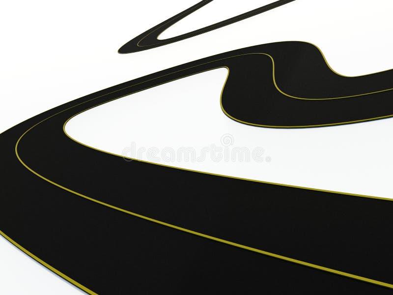 Bucle del camino stock de ilustración