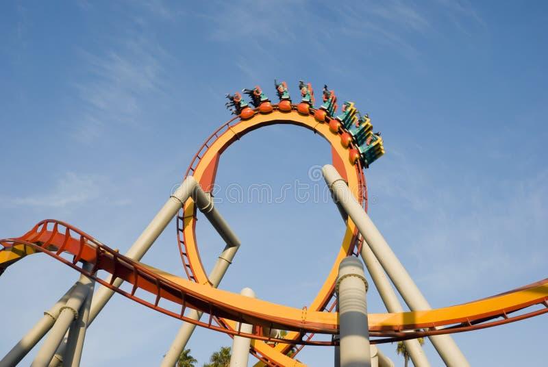 Bucle del roller coaster fotos de archivo
