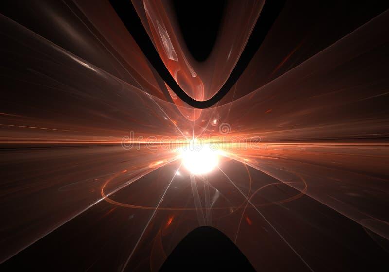 Bucle temporal abstracto, viajando en espacio ilustración del vector