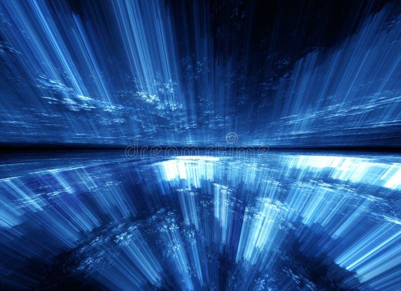 Bucle temporal abstracto, viajando en espacio stock de ilustración