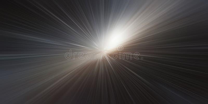 Bucle temporal, velocidad de la luz, fondo del concepto del viaje del tiempo libre illustration