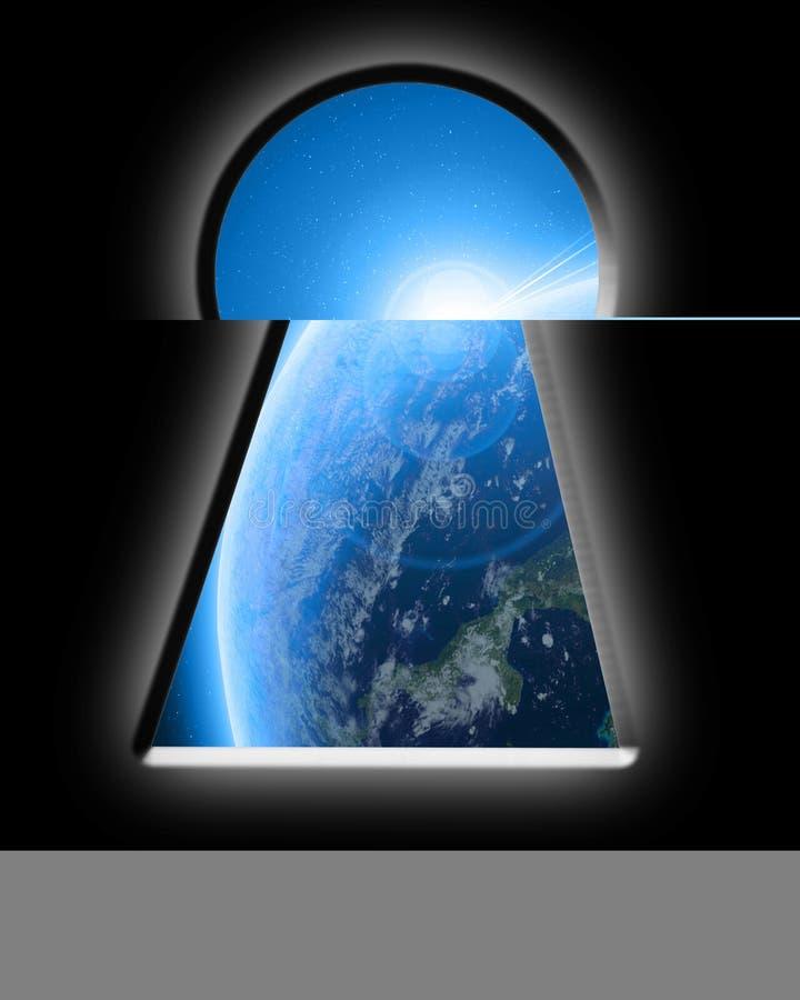 Buco della serratura illustrazione vettoriale