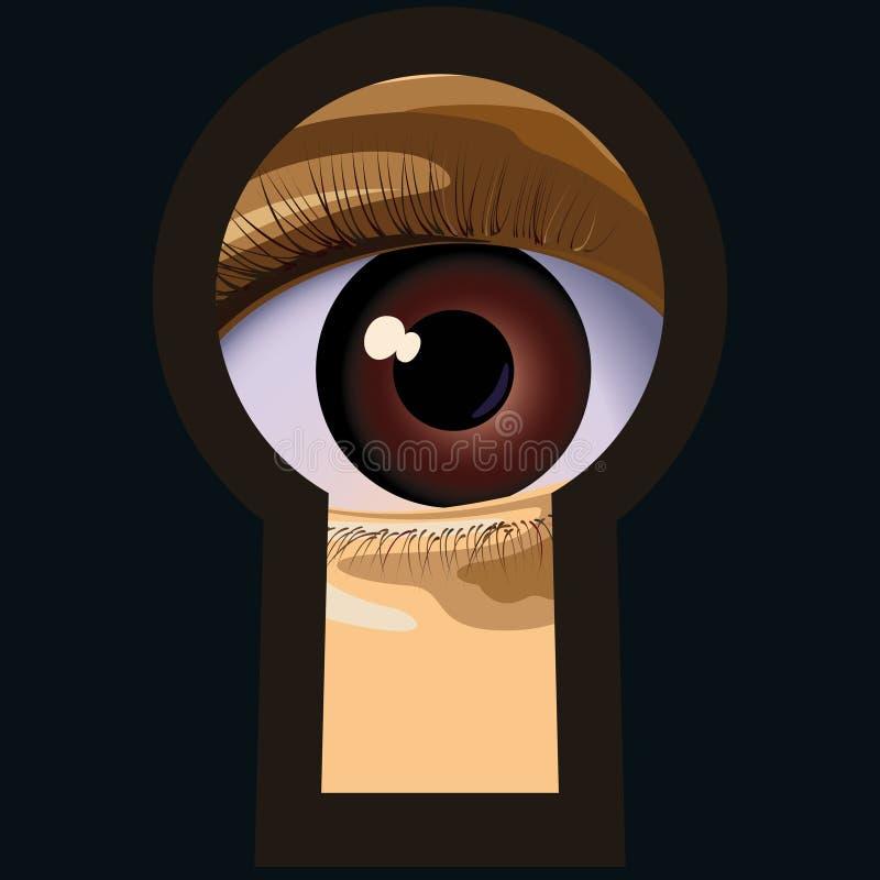 Buco della serratura. immagini stock