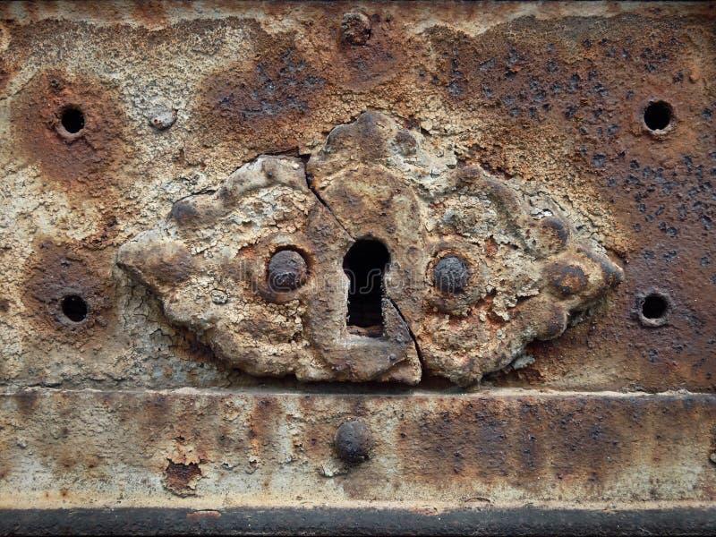 buco della serratura arrugginito antico fotografia stock libera da diritti