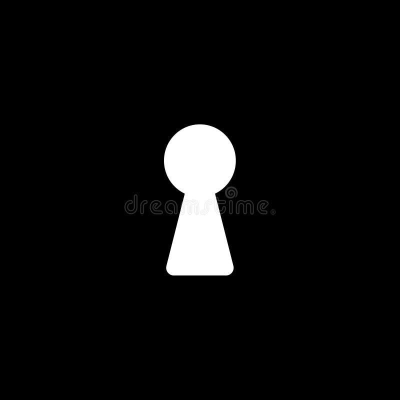 Buco della serratura nello scuro illustrazione di stock