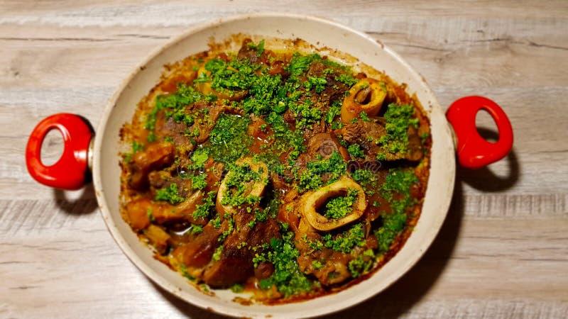 Buco Ossobuco или osso специальность кухни Италии ломбарда стоковые изображения rf
