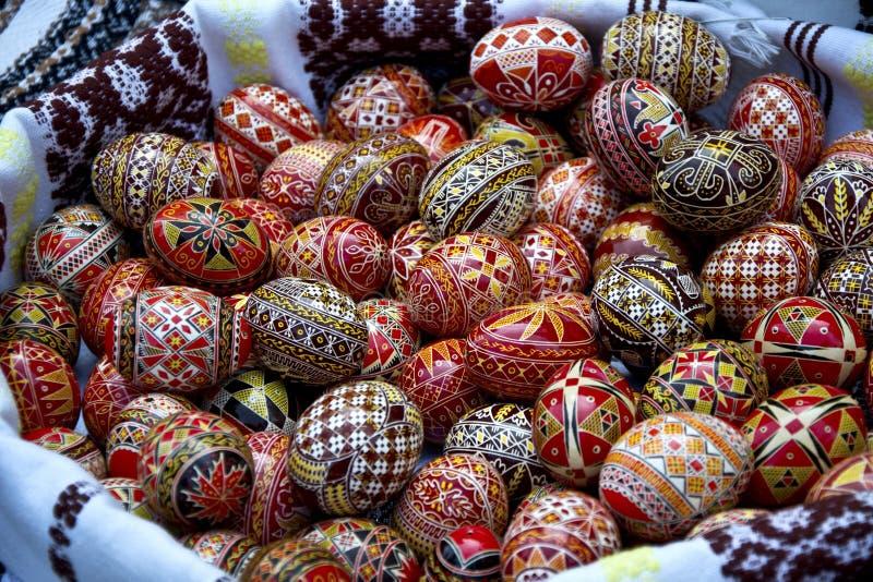 Bucovina pintou ovos de easter imagem de stock royalty free
