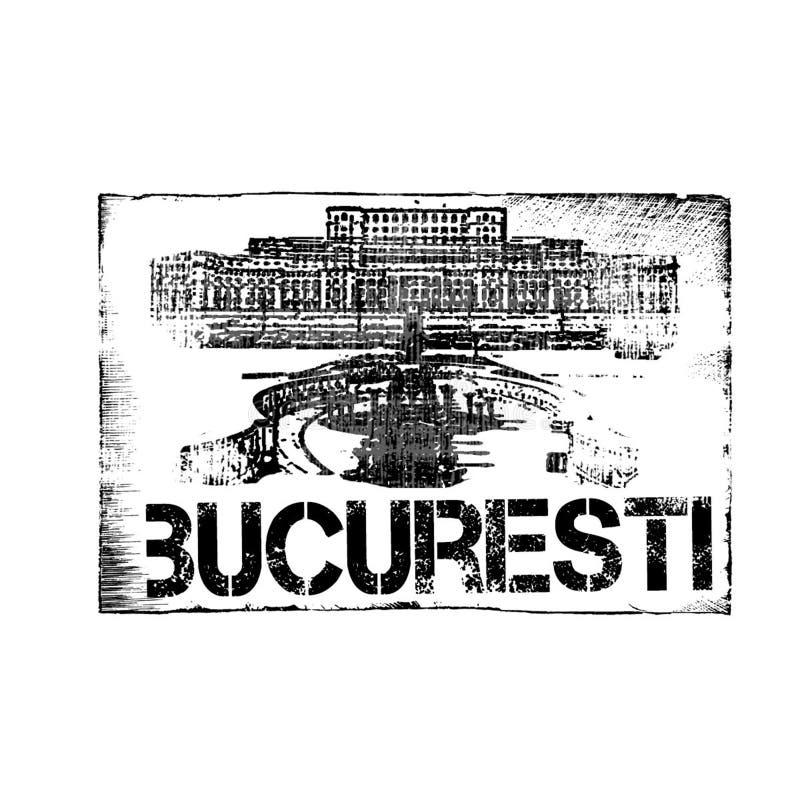 Bucuresti (Boekarest) Zegel stock foto