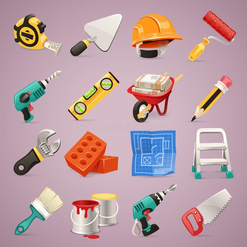 Budów ikony Set1.1 royalty ilustracja