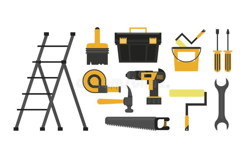 Budów narzędzia ustawiający ilustracja wektor