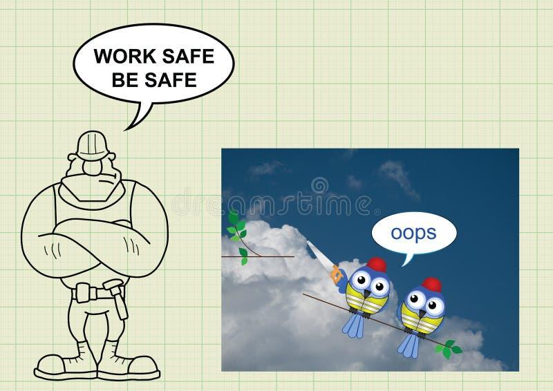 Budów zdrowie i bezpieczeństwo ilustracja wektor