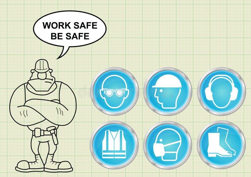 Budów zdrowie i bezpieczeństwo royalty ilustracja