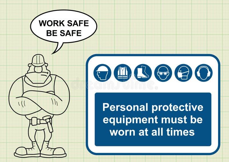 Budów zdrowie i bezpieczeństwo ilustracji
