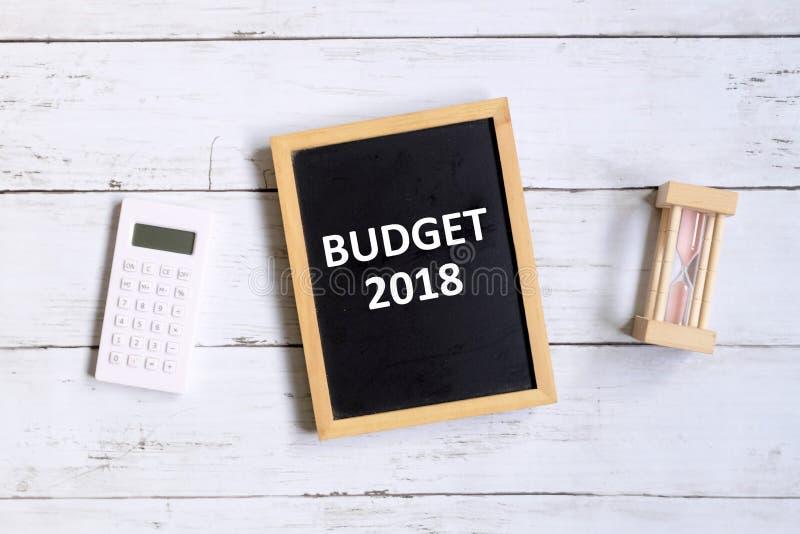 Budżet 2018 fotografia stock