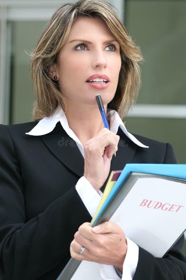budżet kobieta biznesowa planistyczna pomyślna obraz stock