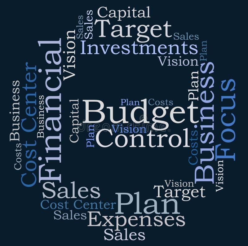 Budżet kontrola ilustracji
