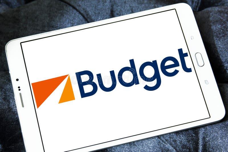 Budżeta czynsz Samochodowy systemu logo obraz stock