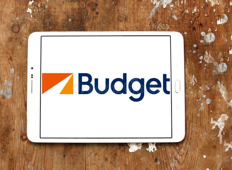 Budżeta czynsz Samochodowy systemu logo fotografia stock
