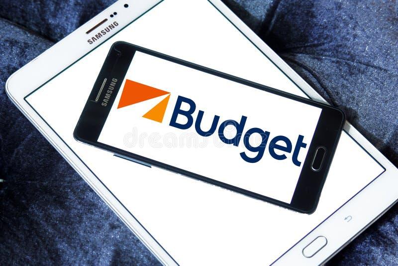 Budżeta czynsz Samochodowy systemu logo zdjęcia royalty free