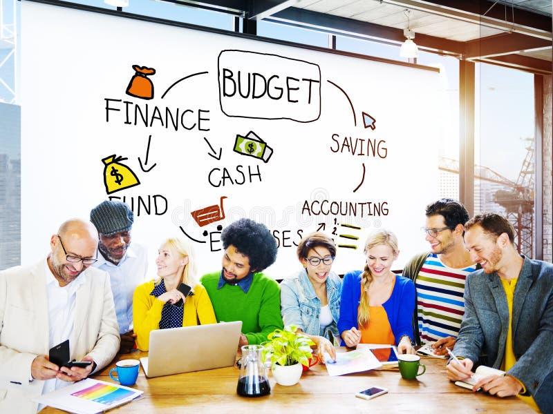 Budżeta finanse gotówki funduszu oszczędzania księgowości pojęcie obraz royalty free