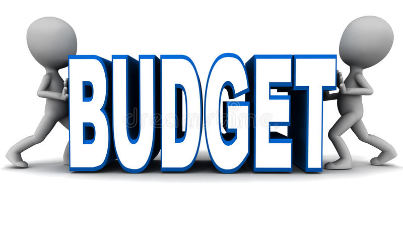 Budżeta kurczenie się ilustracja wektor