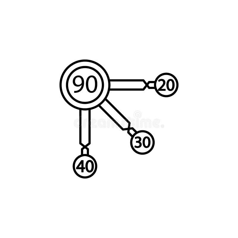 Budżetuje planowanie, zarządzanie finansami, rynek papierów wartościowych, savings ikona Element pieniądze dywersyfikacja ilustra ilustracja wektor