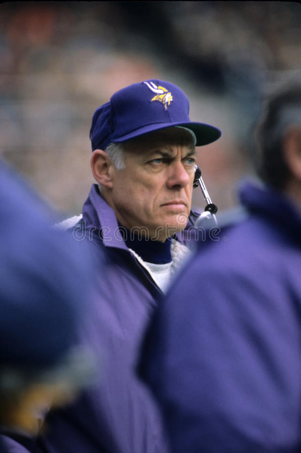 Bud Grant, Minnesota Vikings fotos de stock royalty free