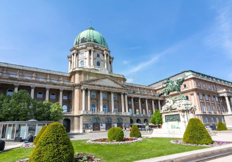 Buda,布达佩斯,匈牙利王宫  免版税图库摄影