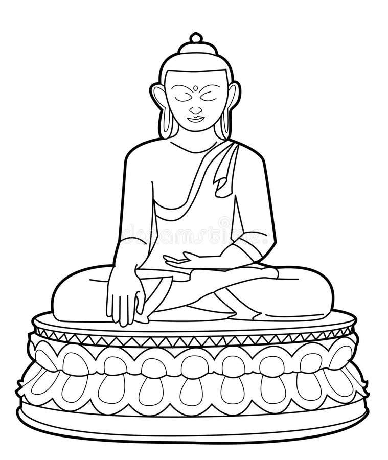 Buda ilustração royalty free