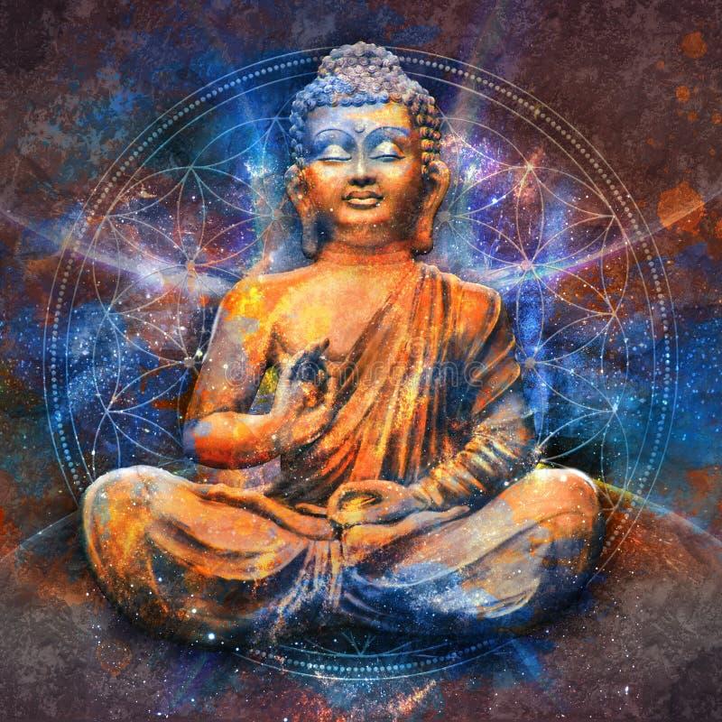 Buda asentado en Lotus Pose foto de archivo libre de regalías