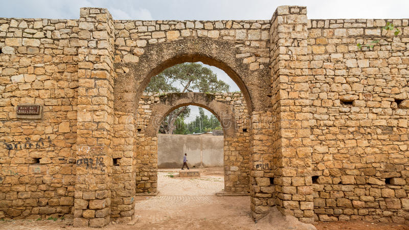 Buda Ber. HARAR, ETHIOPIA - JULY 26,2014 - Buda Gate, also known as Badro bari, Karra Budawa, or Hakim Gate, is one of the entrances to Jugol, the fortified stock photo