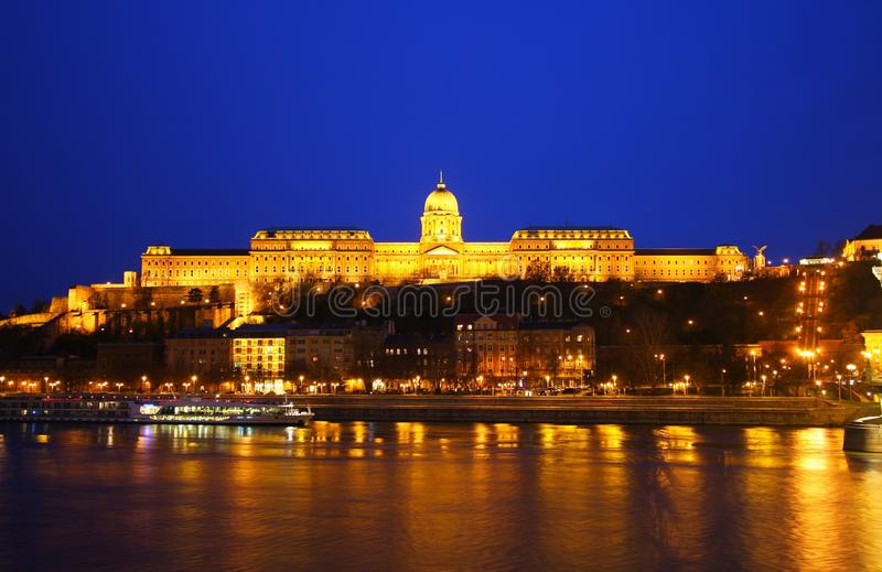 Buda Castle in Budapest stock photos