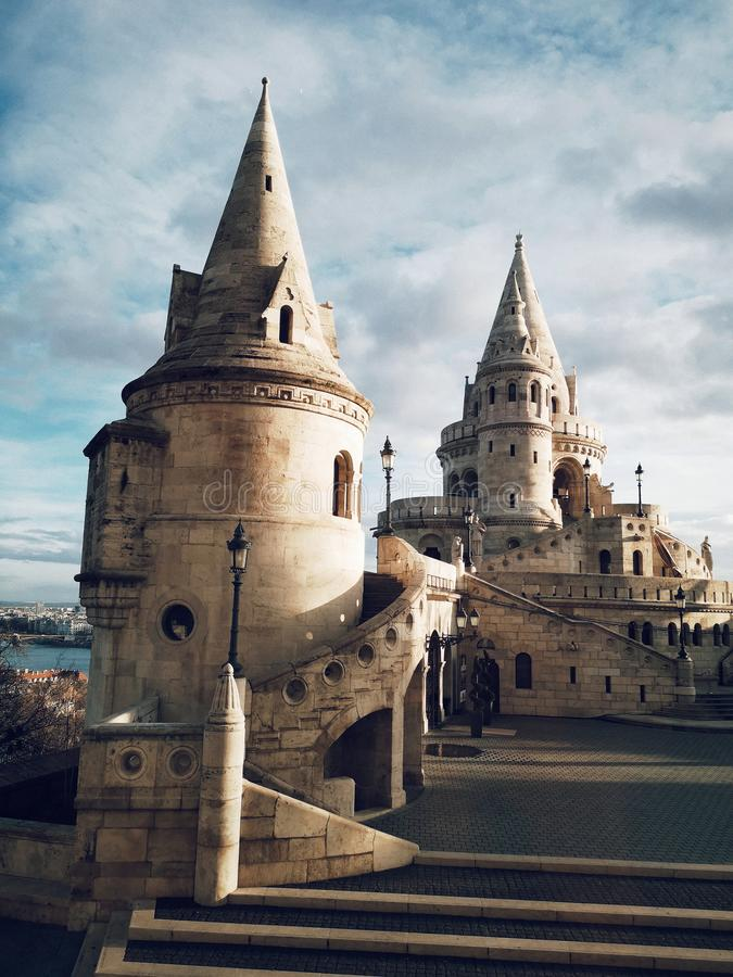Fisherman Bastion in Budapest Europe royalty free stock photography