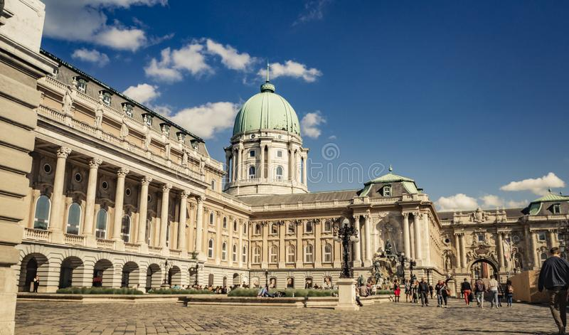 Buda Castle in Budapest, Hungary. The beautiful Buda Castle in the city of Budapest, Hungary stock photography