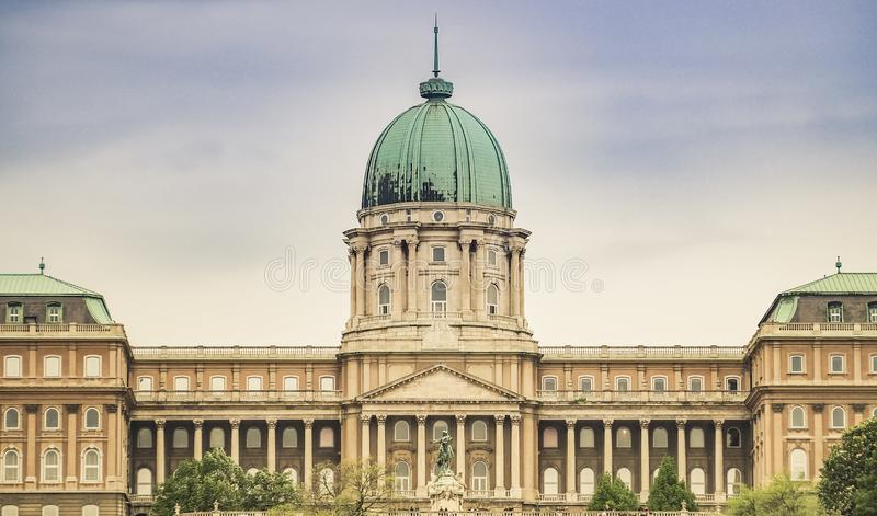 Buda Castle in Budapest, Hungary. The beautiful Buda Castle in the city of Budapest, Hungary royalty free stock photos