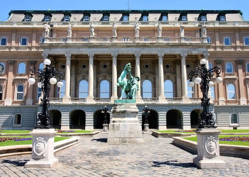 Buda Castle in Budapest, Hungary stock photography