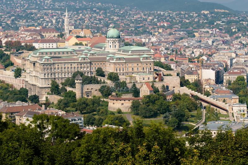 Buda Castle in Budapest, Hungary. The famous Buda Castle in Budapest in Hungary on a beautiful day stock photo