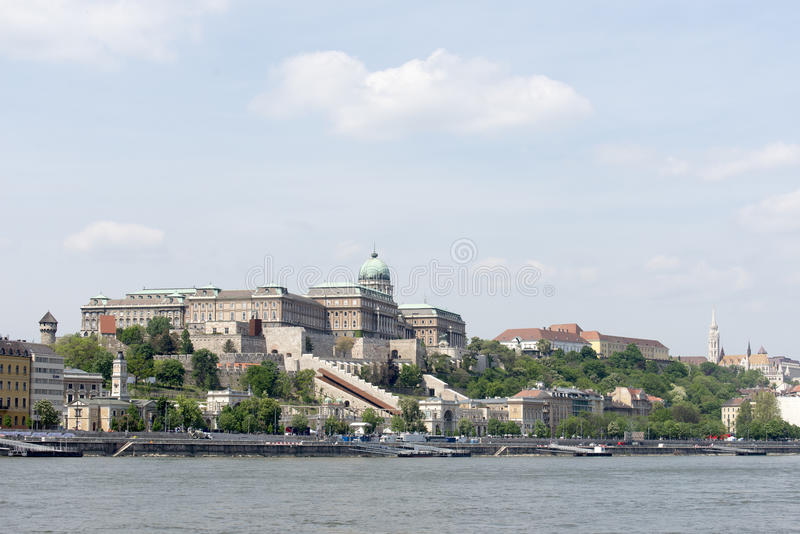 Buda castle, Budapest royalty free stock images