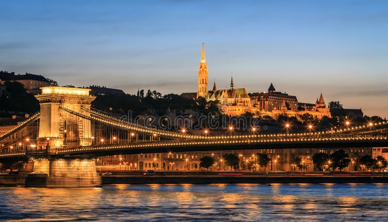 Buda Castle and the Danube. stock images