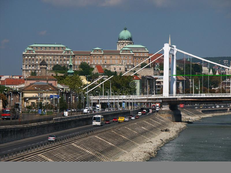 Download Buda Castle And Elizabet Bridge Stock Photo - Image of water, cupola: 44402