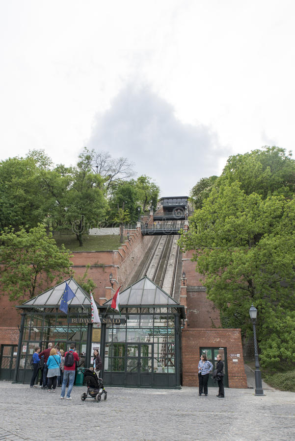 Buda castle funicular royalty free stock image
