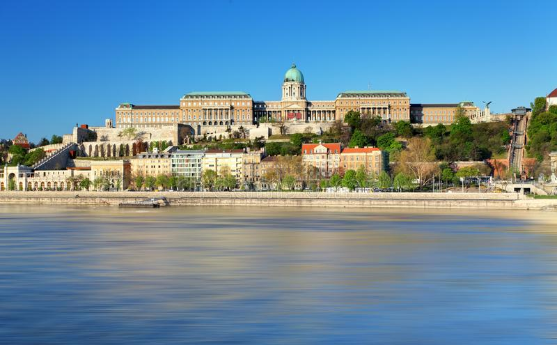 Buda Castle, is the historical castle and palace, Budapest.  stock image