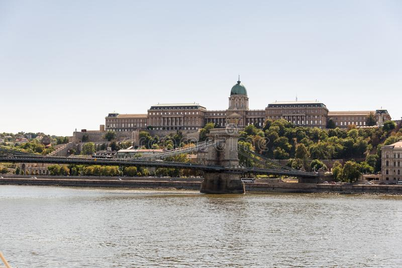 Buda Castle in Hungary and Budapest. At Central Europe stock images