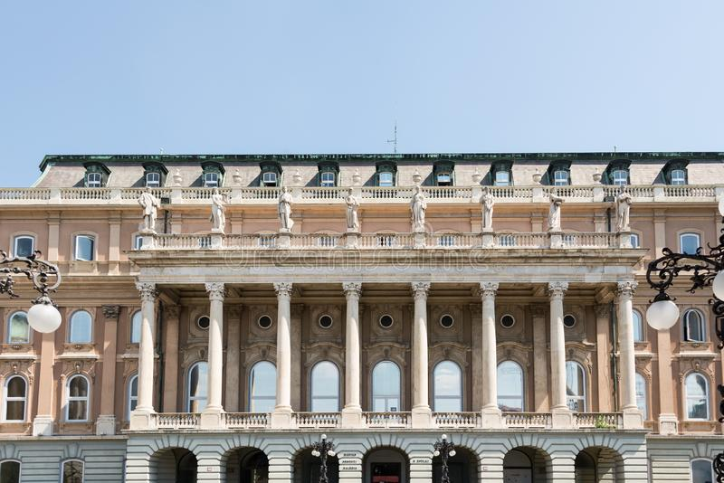 Buda Castle in Hungary and Budapest. At Central Europe royalty free stock photo