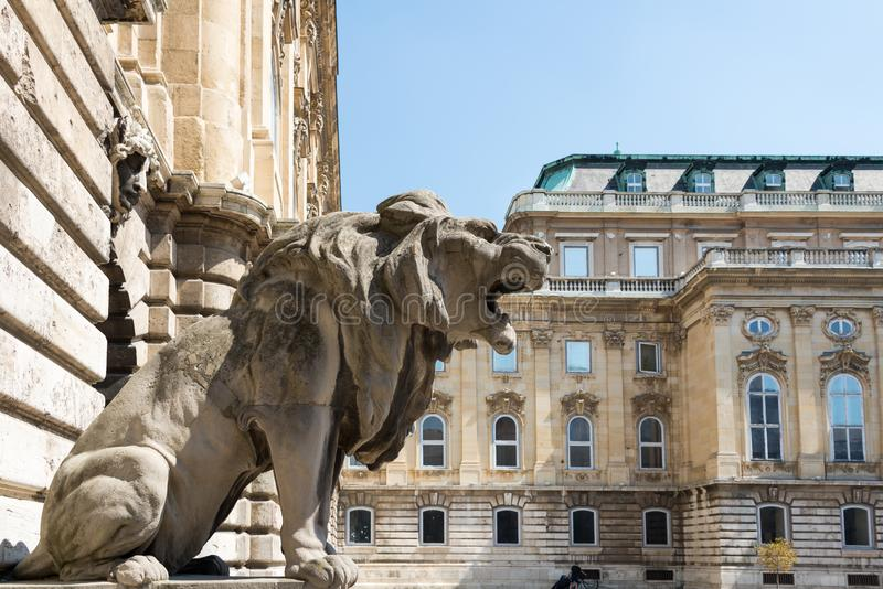 Buda Castle in Hungary and Budapest. At Central Europe stock photography