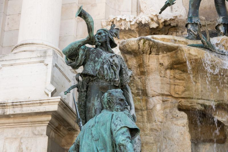 Buda Castle in Hungary and Budapest. At Central Europe royalty free stock image