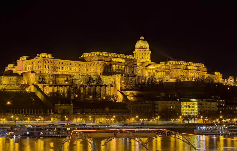 Download Buda Castle Night View, Budapest, Hungary Stock Photo - Image: 23098896
